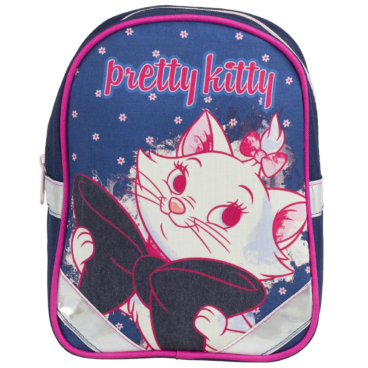 Рюкзак детский Kinderline Marie Cat, цвет: синий, белый, розовыйMCCB-UT1-511Рюкзак детский Kinderline Marie Cat выполнен из износоустойчивых материалов с водонепроницаемой основой, декорирован ярким рисунком. Рюкзак имеет одно вместительное основное отделение, закрывающееся на молнию.Ранец оснащен светоотражателями, удобной ручкой для переноски и двумя широкими лямками, регулируемой длины. С модным рюкзаком Marie Cat ваша малышка будет звездой! Стильный и продуманный до мелочей рюкзак позаботится о том, чтобы прогулки доставляли ребенку только удовольствие.