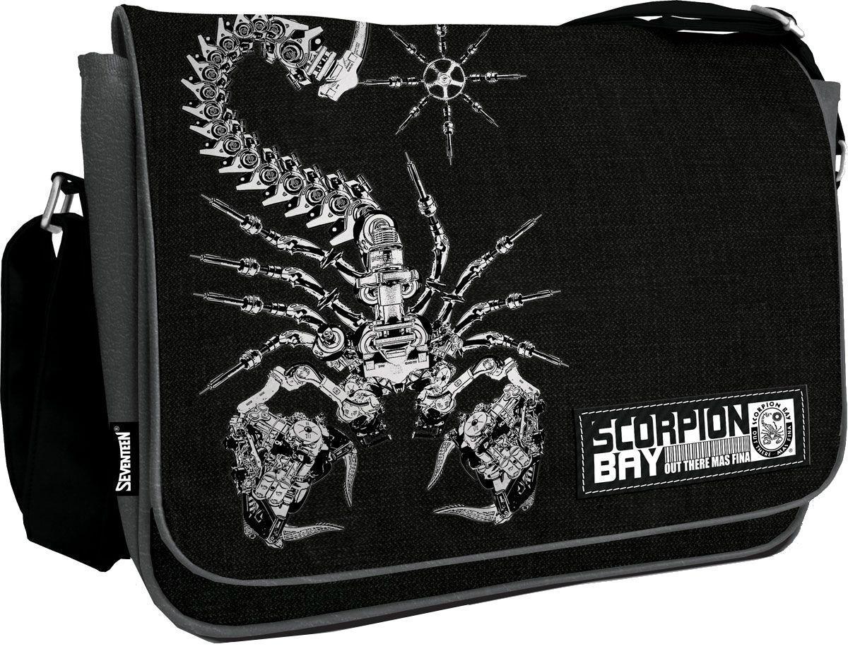 Сумка на плечо Scorpion Bay Размер 35 х 25 х 11 см72523WDСумка на плечо Scorpion Bayпрекрасно подойдет для учебы, занятий спортом и повседневных дел. Стильная, легкая и удобная сумка с ярким принтом станет для Вас незаменимым аксессуаром. Вместительное внутреннее отделение закрывается на клапан с кнопками, в него поместятся все необходимые школьные принадлежности или спортивная форма, также имеется дополнительный карман на молнии, куда можно разместить предметы небольшого размера. Плотная и широкая лямка свободно регулируется по длине, что позволяет носить сумку школьникам разного возраста. Спешите порадовать себя действительно полезной покупкой!
