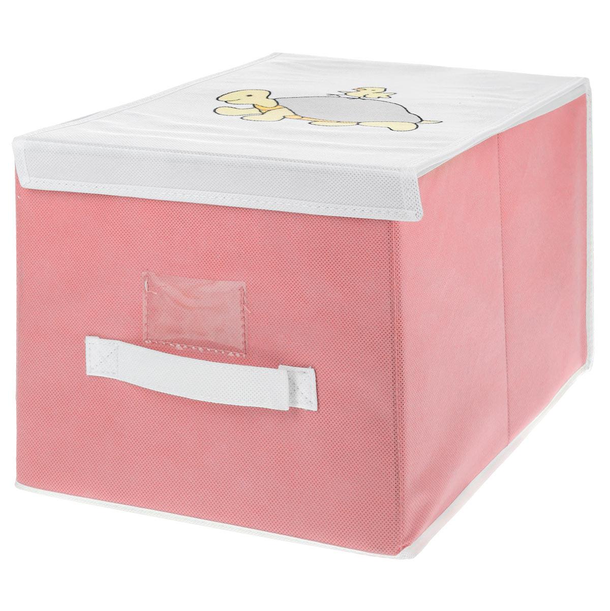Чехол для хранения Voila Baby, цвет: розовый, 30 см х 40 см х 25 см3310_салатовыйЧехол Voila Baby выполнен из дышащего нетканого материала (полипропилен), безопасного в использовании. Изделие предназначено для хранения вещей. Он защитит вещи от повреждений, пыли, влаги и загрязнений во время хранения и транспортировки. Чехол идеально подходит для хранения детских вещей и игрушек. Жесткий каркас из плотного толстого картона, обеспечивает устойчивость конструкции. Изделие оформлено красочным изображением. Закрывается на липучки.