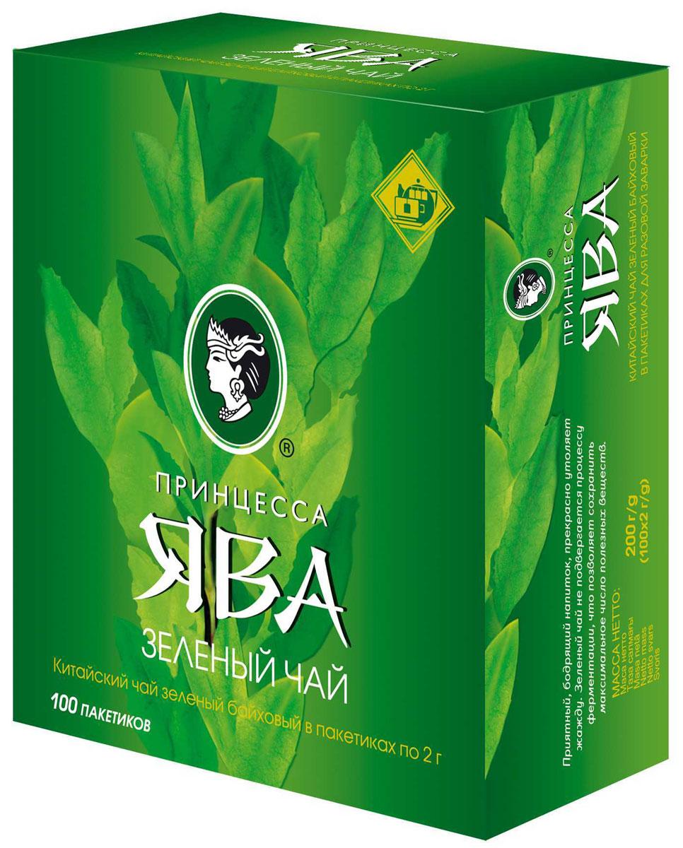 Принцесса Ява зеленый чай в пакетиках, 100 шт0880-18Зеленый чай в пакетиках Принцесса Ява - классический китайский чай. Идеальный напиток для людей, которые заботятся о своем здоровье.
