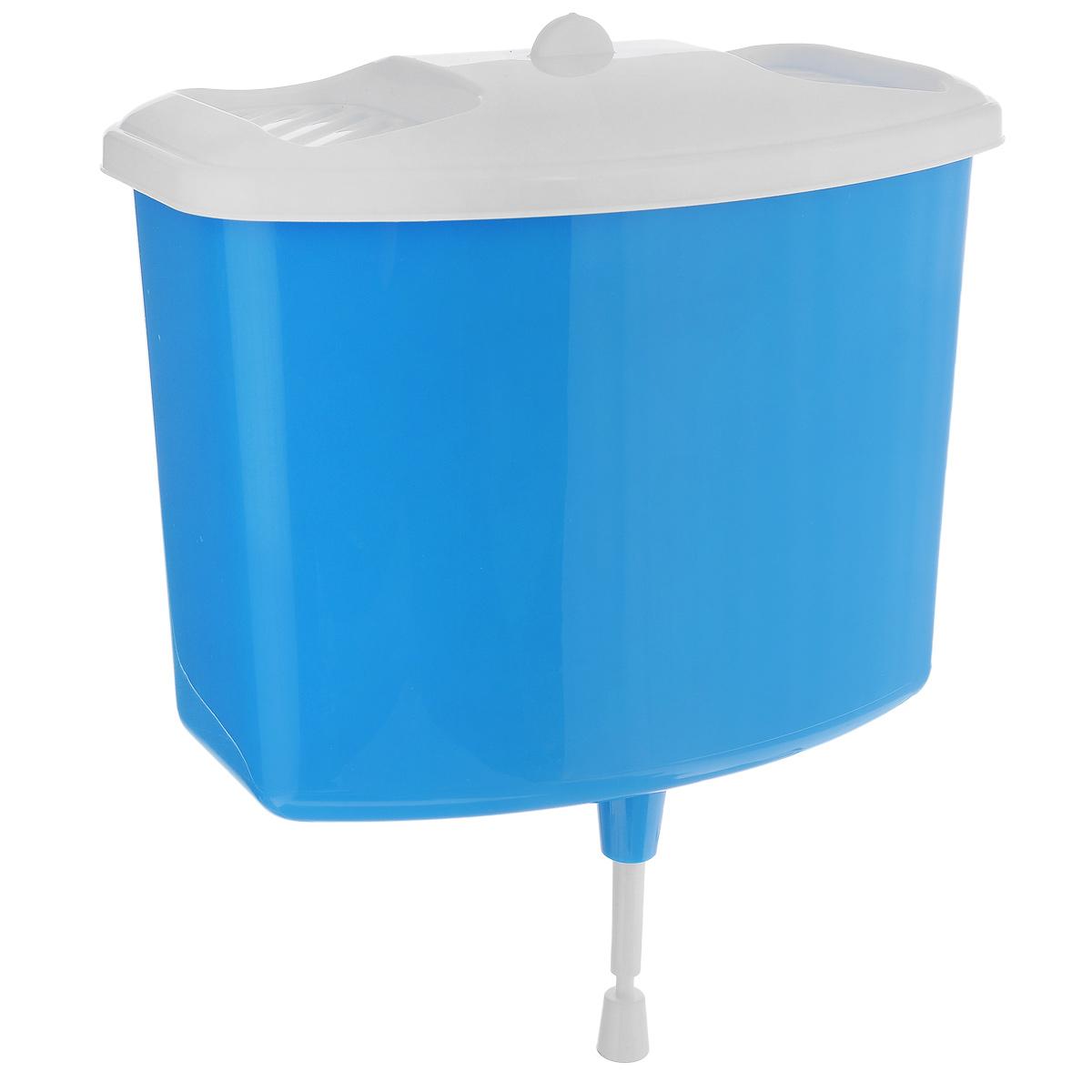 Рукомойник Альтернатива, цвет: голубой, 5 л531-402Рукомойник Альтернатива изготовлен из пластика. Он предназначен для умывания в саду или на даче. Яркий и красочный, он отлично впишется в окружающую обстановку. Петли предоставляют вертикальное крепление рукомойника. Изделие оснащено крышкой, которая предотвращает попадание мусора. Также на крышке имеет две выемки для мыла. Рукомойник Альтернатива надежный и удобный в использовании.Размер рукомойника: 26,5 см х 15 см.Высота (без учета крышки): 23 см.