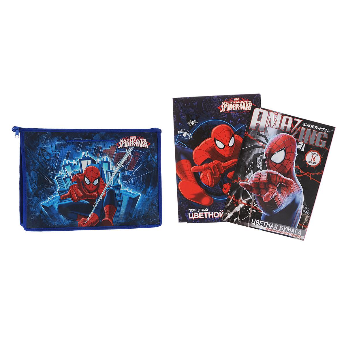 Набор школьных принадлежностей для труда Spider-man, 27 предметов72523WDНабор школьных принадлежностей для труда Spider-man позволит юным поклонникам мультфильма всегда быть подготовленными к урокам!Набор включает в себя: папку-портфель с ручками на молнии формата А4, набор цветной бумаги 16 листов, набор цветного картона 10 листов. Пластиковая папка-портфель предназначена для хранения тетрадей, рисунков и прочих бумаг. Позволяет легко разместить в ней альбом для рисования или набор цветной бумаги. Внутри папки одно большое отделение. Закрывается папка на застежку-молнию.Яркая и удобная, такая папка непременно понравится вашему ребенку и станет стильным набором со всем необходимым к школе.
