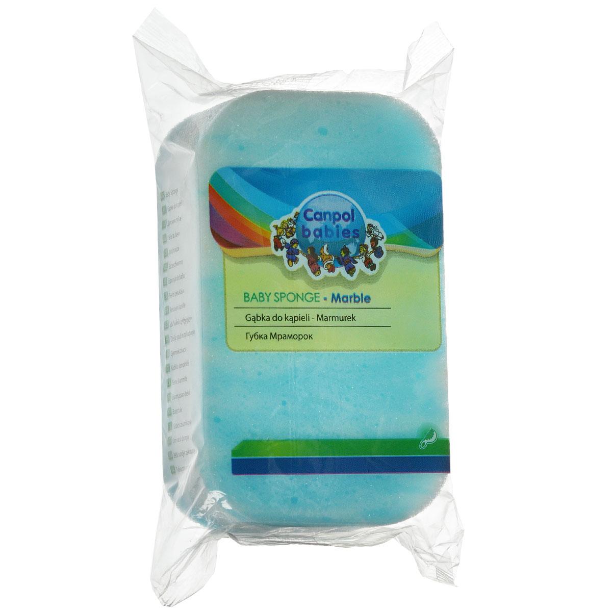Canpol Babies Губка для купания Marble цвет голубой  canpol babies губка для купания marble цвет голубой