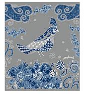 Тетрадь Полиграфика Сказочные птицы, цвет обложки: серебряный, 96 л160Ттр4B1сп_03845Обложка:картон мелованный 170 г/м2. Блок: бумага офсетная 55 г/м2