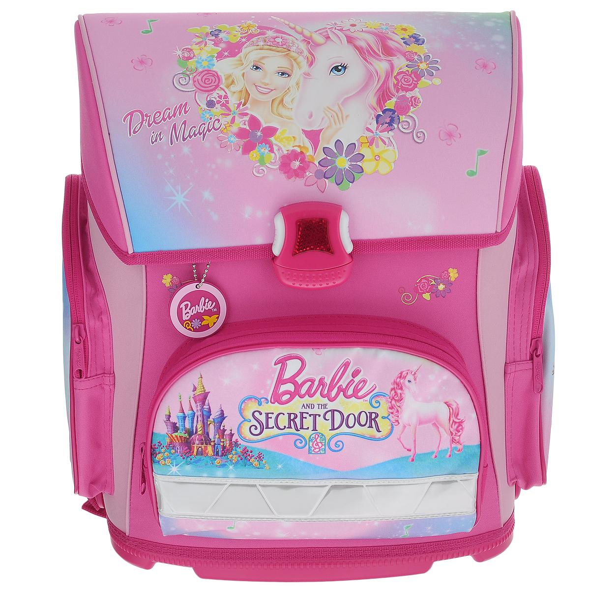Ранец Hatber 37х30х17см OPTIMUM Barbie The Secret Door (Barbie)72523WDУсовершенствованная серия ранца для младшего школьного возраста. Жесткий анатомический каркас и форма спинки способствуют равномерному распределнию нагрузки и формированию правильной осанки.