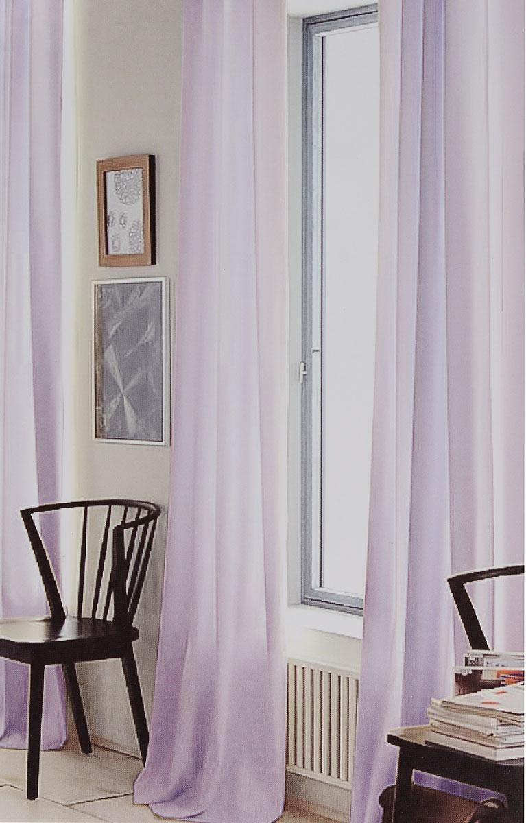Штора готовая для гостиной Garden, на ленте, цвет: сиреневый, размер 300*260 см. CW191 V76008SVC-300Изящная тюлевая штора Garden выполнена из вуали (100% полиэстера). Полупрозрачная ткань, приятный цвет привлекут к себе внимание и органично впишутся в интерьер помещения. Такая штора идеально подходит для солнечных комнат. Мягко рассеивая прямые лучи, она хорошо пропускает дневной свет и защищает от посторонних глаз. Отличное решение для многослойного оформления окон. Штора крепится на карниз при помощи ленты, которая поможет красиво и равномерно задрапировать верх.