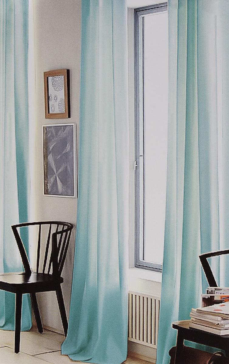 Штора готовая для гостиной Garden, на ленте, цвет: бирюзовый, размер 300*260 см. CW191 V730239342Изящная тюлевая штора Garden выполнена из вуали (100% полиэстера). Полупрозрачная ткань, приятный цвет привлекут к себе внимание и органично впишутся в интерьер помещения. Такая штора идеально подходит для солнечных комнат. Мягко рассеивая прямые лучи, она хорошо пропускает дневной свет и защищает от посторонних глаз. Отличное решение для многослойного оформления окон. Штора крепится на карниз при помощи ленты, которая поможет красиво и равномерно задрапировать верх.