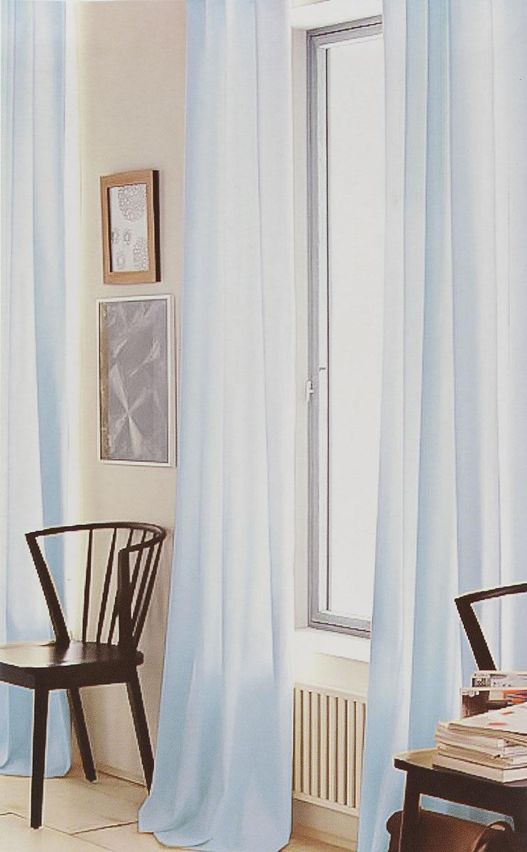Штора готовая для гостиной Garden, на ленте, цвет: голубой, размер 300*260 см. CW191 V7906650780/150Изящная тюлевая штора Garden выполнена из вуали (100% полиэстера). Полупрозрачная ткань, приятный цвет привлекут к себе внимание и органично впишутся в интерьер помещения. Такая штора идеально подходит для солнечных комнат. Мягко рассеивая прямые лучи, она хорошо пропускает дневной свет и защищает от посторонних глаз. Отличное решение для многослойного оформления окон. Штора крепится на карниз при помощи ленты, которая поможет красиво и равномерно задрапировать верх.