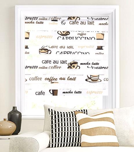 Мини-ролло Garden День-ночь Cafe 90х160 см, крепление на раму, цвет: белый1004900000360Мини-ролло Garden День-ночь изготовлены из высокопрочной плотной ткани с прозрачными полосками и украшены изображением разнообразных чашек с кофе, оригинальными надписями. Ткань не выцветает, обладает отличной цветоустойчивостью и сохраняет свой размер даже при намокании. Мини-ролло - это подвид рулонных штор, который закрывает не весь оконный проем, а непосредственно само стекло. Крепление универсальное, шторы крепятся либо скобами на раму, либо на крепление с двусторонним скотчем. Мини-ролло Garden День-ночь - это отличное решение для тех, кто не хочет утяжелять помещение тканевыми шторами. Они не только открывают пространство, но и легко регулируют подачу света в помещение, сдвигая полоски относительно друг друга. Происходит это с помощью шнура-цепочки.