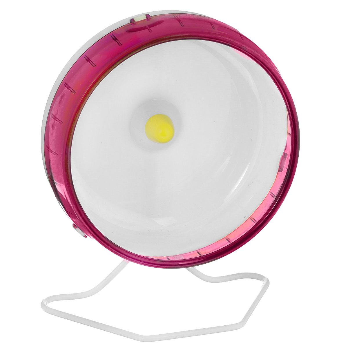 Колесо для грызунов I.P.T.S., цвет: красный, белый, диаметр 16,5 смGLG045Колесо для грызунов I.P.T.S., изготовленное из прочного пластика, абсолютно бесшумное. Для грызунов очень важно постоянно разминать свои лапки и поддерживать физической форму. Именно поэтому одним из самых востребованных дополнительных аксессуаров для них являются различные приспособления для бега. Тренировки на колесе станут питомцу в радость и не позволят набрать лишний вес. Предназначено для сирийских и карликовых хомяков, а также мышей. Диаметр колеса: 16,5 см.