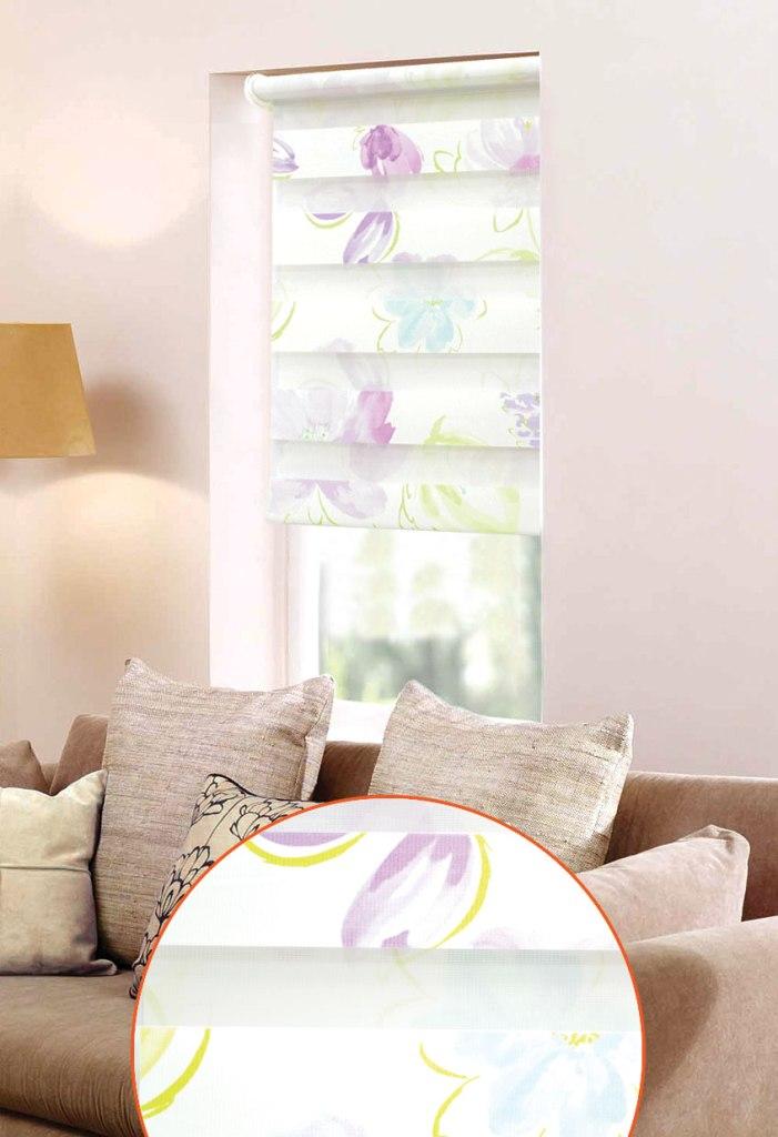 Мини ролло Garden День-ночь 3 52х160 см, крепление на раму, цвет: белый, фиолетовыйSS 4041Мини-ролло Garden День-ночь изготовлены из высокопрочной плотной ткани и украшены изображением фиолетовых лепестков. Ткань не выцветает, обладает отличной цветоустойчивостью и сохраняет свой размер даже при намокании. Мини-ролло - это подвид рулонных штор, который закрывает не весь оконный проем, а непосредственно само стекло. Крепление универсальное, шторы крепятся либо скобами на раму, либо на крепление с двусторонним скотчем. Мини-ролло Garden День-ночь - это отличное решение для тех, кто не хочет утяжелять помещение тканевыми шторами. Они не только открывают пространство, но и легко регулируют подачу света в помещении, сдвигая полоски относительно друг друга. Происходит это с помощью шнура-цепочки. В комплект входит: - 2 крепления,- 2 самореза,- 2 дюбеля,- шнур-цепочка,- мини-ролло.