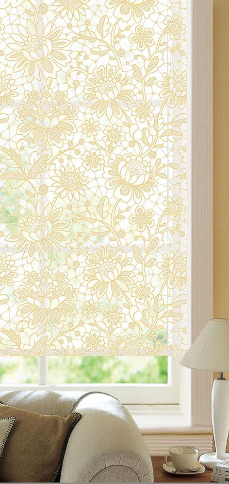 Мини ролло Garden Кремовые цветы 160х175 см, крепление стена-потолок