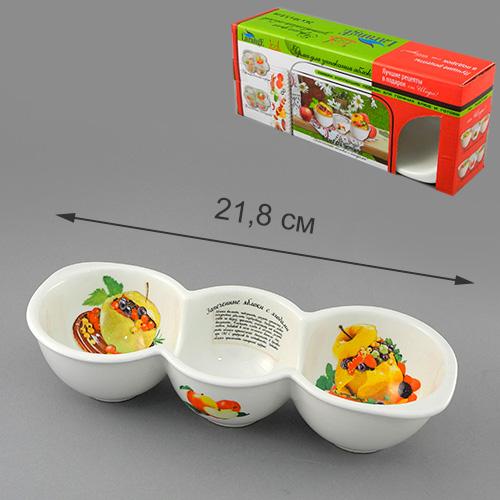 Форма для запекания LarangE Яблоки с ягодами, 26 x 10 x 5,8 см391602Форма для запекания LarangE выполнена из высококачественного фарфора, порадует вас изящным дизайном и практичностью. Стенки формы декорированы надписью Яблоки с ягодами и изображением этого блюда. Кроме того, для упрощения процесса приготовления на стенках написан рецепт блюда и изображены необходимые продукты. Такая посуда украсит ваш праздничный или обеденный стол, а оригинальное исполнение понравится любой хозяйке.Размер формы: 26 x 10 x 5,8 см.