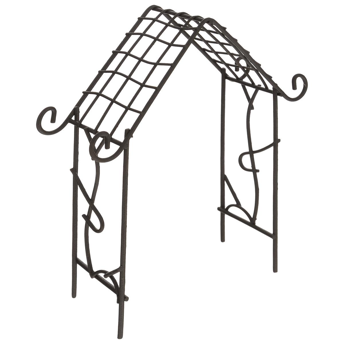 Миниатюра кукольная ScrapBerrys Мини арка-домик, цвет: коричневый, 12,5 см х 4 см х 15,5 см54 009303Миниатюра кукольная ScrapBerrys Мини арка-домик изготовлена из высококачественного металла в виде небольшой арки.Изделие украшено изящными коваными завитками.Такая миниатюра прекрасно подойдет для декорирования кукольных домиков, а также для оформления работ в самых различных техниках. С ее помощью можно обставлять румбокс. Можно использовать в шэдоубоксах или просто как изысканные украшения для скрап-работ.Размер изделия: 12,5 см х 4 см х 15,5 см.