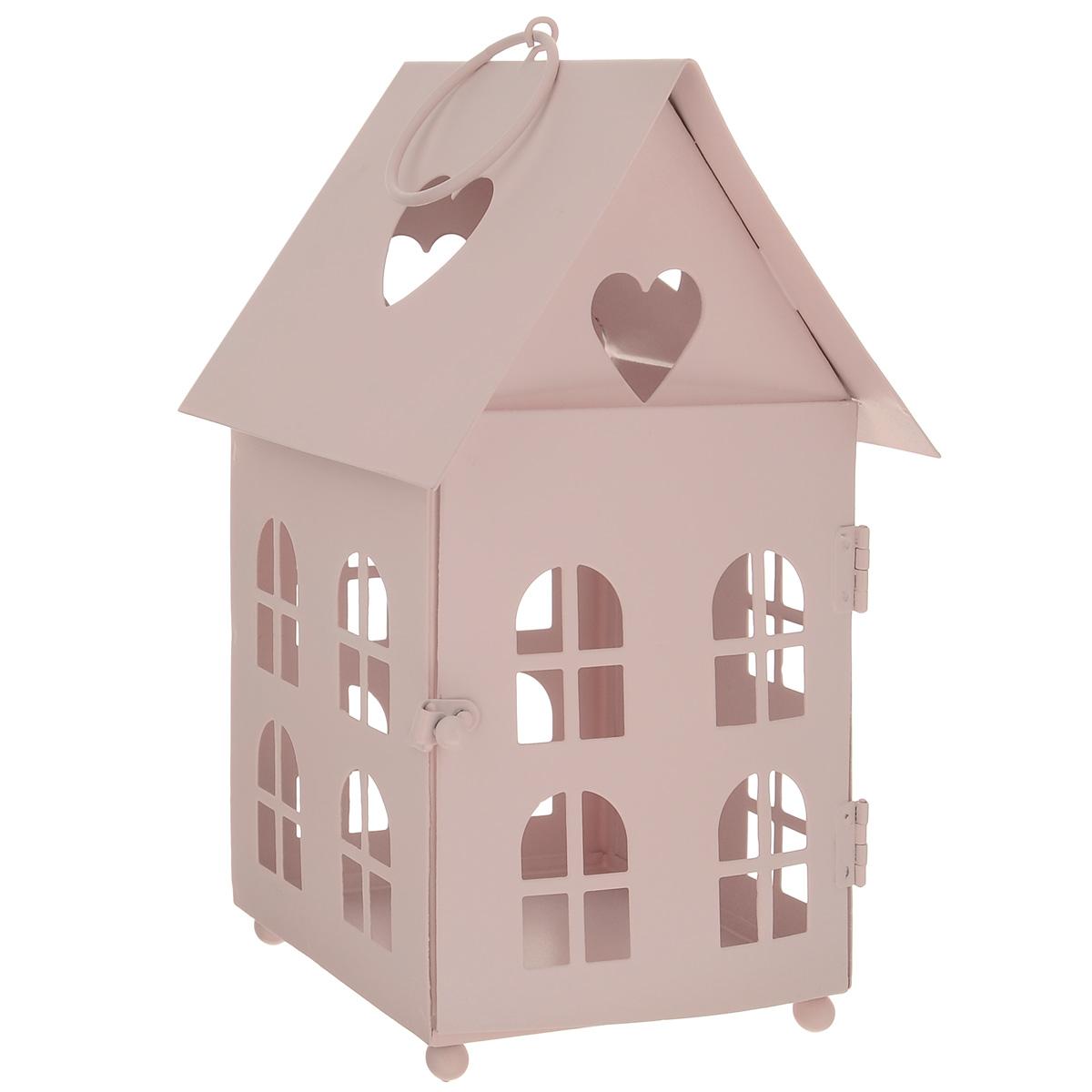 Домик-фонарик декоративный Blossom Line, цвет: нежно-розовый, 11 х 11 х 18,5 см54 009312Декоративный домик-фонарик Blossom Line, изготовленный из окрашенного металла, - прекрасный выбор для тех, кто хочет сделать запоминающийся подарок родным и близким. Кроме того, он может хорошо вписаться в интерьер вашего дома или дачи. Изделие можно декорировать разными материалами (наклейки, ткань, ленты, декоративные цветы и многое другое) и сделать оригинальную композицию. Домик-фонарик оснащен открывающейся дверцей и металлическим кольцом для подвешивания на крючок.Размер: 11 см х 11 см х 18,5 см. Размер дверцы: 9 см х 11 см.