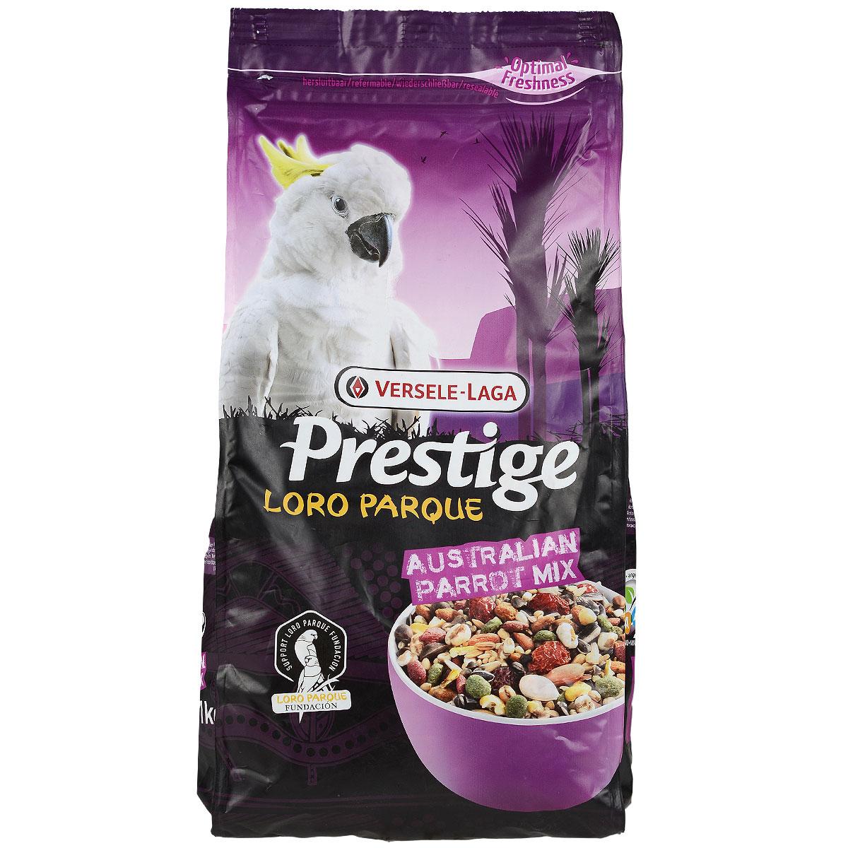 Корм для крупных попугаев Versele-Laga Australian Parrot Loro Parque Mix Premium, 1 кг0120710Смесь для крупных попугаев Versele-Laga Australian Parrot Loro Parque Mix - это обогащенная зерновая смесь с содержанием дополнительных питательных веществ, разработанная специально для австралийских крупных попугаев. Все смеси Prestige Premium Loro Parque приготовлены из различных семян и зерен и содержат вкусные кусочки для попугаев, такие как воздушные зерна, семена тыквы, шиповник, сушеный перец и кедровые орешки. Этот основной высококачественный корм с низким содержанием жира обогащен 8 % гранул Maxi ВAM, дающими дополнительный запас витаминов, аминокислот и минералов. Данная смесь адаптирована под потребности особей, ее состав разрабатывался совместно с научно-исследовательской группой Loro Parque. Данная смесь применяется в качестве основного корма для всех австралийских попугаев. После успешного опыта применения в известном Loro Parque (в Тенерифе), данная смесь стала доступна для всех владельцев попугаев в любом уголке земли.Versele-Laga поддерживает фонд Loro Parque Fundacion в стремлении сохранить вымирающие виды птиц и их среду обитания. Приобретая данную продукцию, вы помогаете фонду Loro Parque Fundacion защищать природу.Состав: семена сафлора, гречиха, гранулы Maxi ВAM,пшеница, ячмень, рис-сырец, остроконечный овес, белое просо, очищенный овес, канареечное семя, кукуруза, семена конопли, желтое просо, дари, сорго, очищенный арахис, орехи сосны, ракушки устриц, семена подсолнечника полосатого, воздушная кукуруза, шиповник, воздушная пшеница.Анализ состава: белки 13,5%, жиры 10,5%, клетчатка 11%, зола 5,5%, кальций 0,92%, фосфор 0,33%, лизин 4500 мг/кг, метионин 3350 мг/кг, витамин А8000 МЕ/кг, витамин D3 1600 МЕ/кг, витамин E 20 мг/кг.Добавки: витамин B1, витамин B2, витамин B6, витамин B12, витамин C, витамин PP, витамин К, фолиевая кислота, биотин, холин, натрий, магний, калий, железо, медь, марганец, цинк, йод, селен.Вес: 1 кг. Товар сертифицирован.