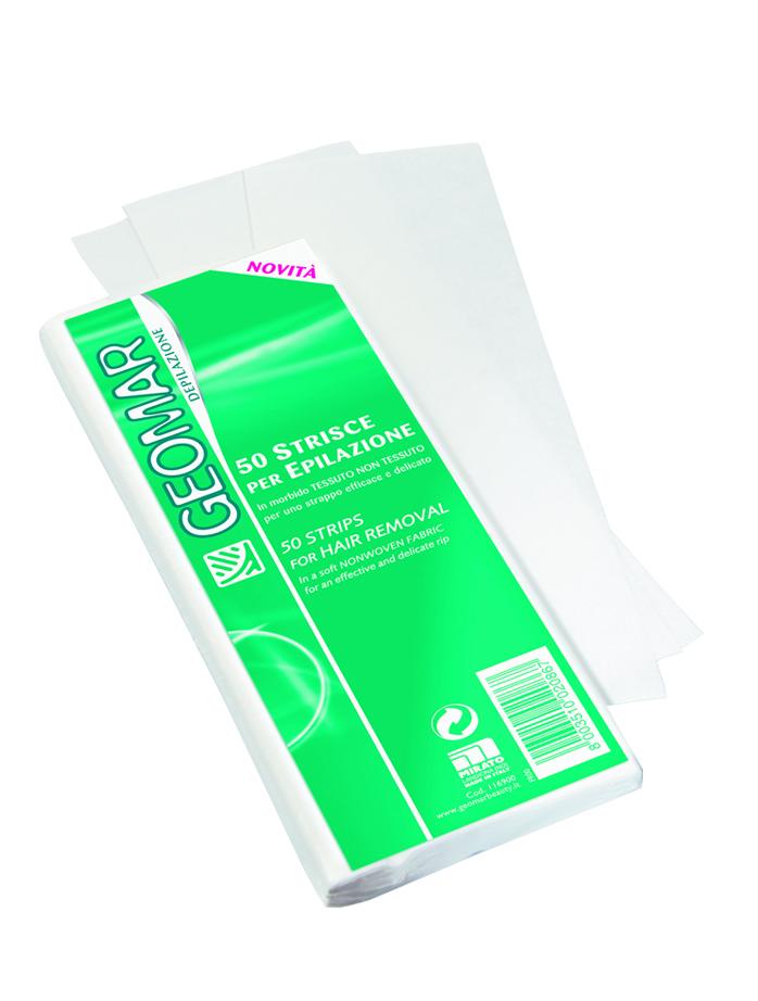 Geomar Полоски для депиляции 50 шт.851234Полоски для депиляции из мягкого нетканого материала для эффективного и деликатного удаления волос.