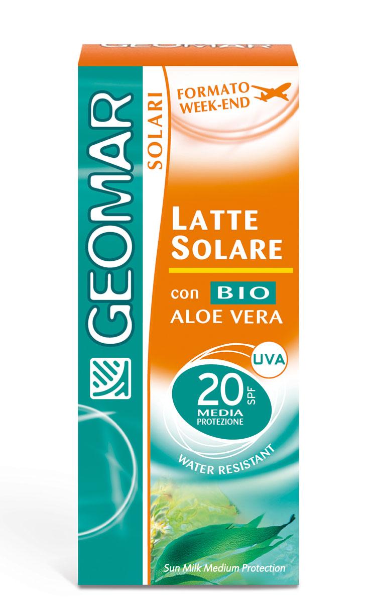 Geomar Молочко солнцезащитное Solari Bio с уровнем защиты SPF 20 75млA8336800Идеально для светлой кожи. помогает защитить кожу от вредного воздействия UVA и UVB лучей и предотвращает преждевременное старение кожи. Содержит органическое алое вера с увлажняющим и смягчающим свойствами. Его нежирная легкая текстура быстро впитывается и не оставляет белых следов. После нанесения кожа лица становится увлажненной и мягкой. Водоотталкивающий.