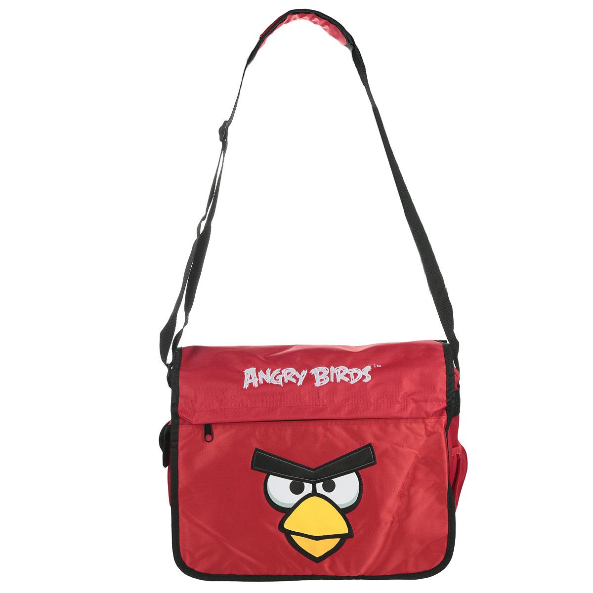 Сумка школьная Hatber Angry Birds, цвет: красный, черный, желтый. NSn_00203NSn_00203Многофункциональная школьная сумка Hatber Angry Birds выполнена из прочного износостойкого материала высокого качества. Изделие оформлено принтом с изображением птички.Сумка имеет одно основное отделение, которое закрывается на застежку-молнию и дополнительно закрывантся откидным клапаном на липучки. Внутри отделения расположен нашитый карман на молнии и жесткий средник-разделитель. Снаружи под откидным клапаном расположен накладной сетчатый карман на молнии. На лицевой стороне сумки расположен вшитый карман на молнии. По бокам изделия размещены два дополнительных накладных кармана, один из застегивается на липучку. Сумка оснащена плечевым ремнем с мягкой подложкой, длина ремня регулируется при помощи пряжки.Многофункциональная школьная сумка Hatber Angry Birds станет незаменимым спутником вашего ребенка в походах за знаниями.