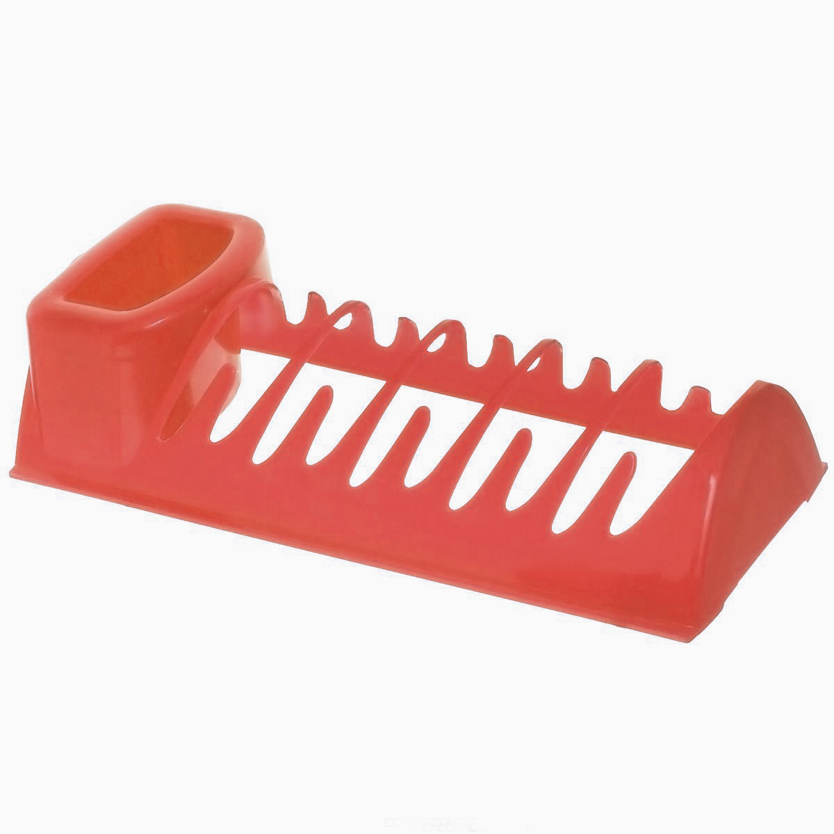 Сушилка для посуды Idea Эконом, цвет: красный, 34 см х 14,5 см х 8,5 см115510Сушилка для посуды Idea Эконом, выполненная из высококачественного пластика, представляет собой решетку с ячейками, в которые помещается посуда, и отделение для столовых приборов. Ваши тарелки высохнут быстро, если после мойки вы поместите их в легкую, яркую, современную пластиковую сушилку.