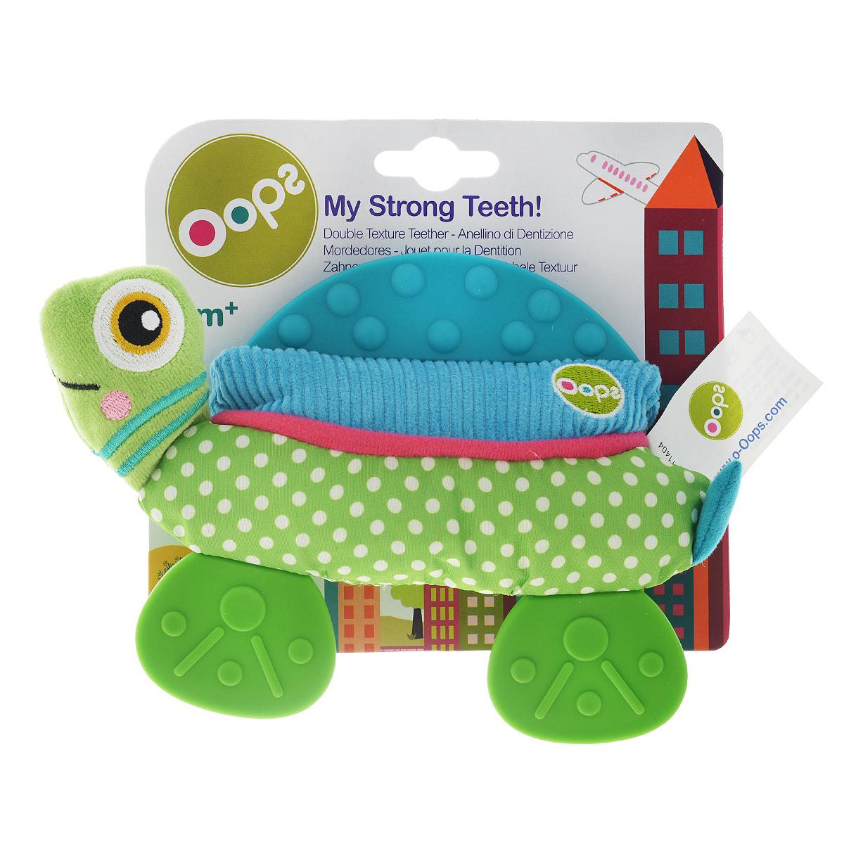 Игрушка-прорезыватель OOPS Черепаха флиппер тойз мягкая игрушка черепаха тортила 70 см 632416