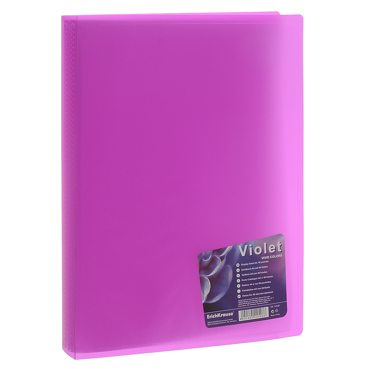 Erich Krause Папка с файлами Vivid Colors 40 листов цвет фиолетовый