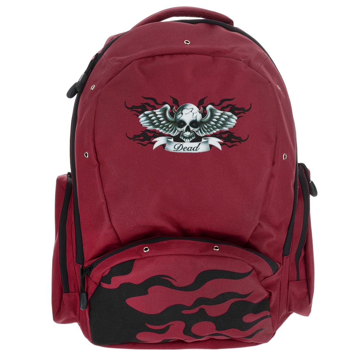 Рюкзак школьный Tiger Enterprise Babylon, цвет: красный, черный72523WDСтильный школьный рюкзак Tiger Family Babylon - это красивый и удобный рюкзак, который подойдет всем, кто хочет разнообразить свои школьные будни. Благодаря анатомической рельефной спинке, повторяющей контур спины и двум эргономичным плечевым ремням, длина которых регулируется, у ребенка не возникнут проблемы с позвоночником. Ранец, выполненный из антибактериального, водоотталкивающего и не выгорающего на солнце материала, оформлен аппликацией и люверсами.Рюкзак имеет одно большое отделение, которое закрывается на молнию. Внутри большого отделения расположен накладной карман на резинке и маленький кармашек на молнии. По бокам рюкзака расположены два внешних кармана на молнии. Изделие оснащено удобной ручкой для переноски в руках. Эргономичный школьный рюкзак Tiger Family Babylon станет незаменимым спутником вашего ребенка в походах за знаниями.