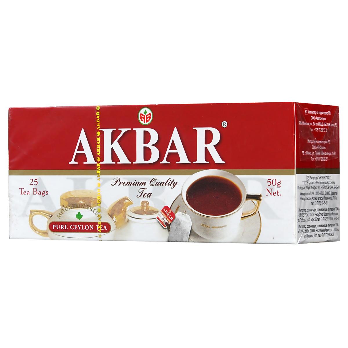 Akbar Mountain Fresh черный чай в пакетиках, 25 шт