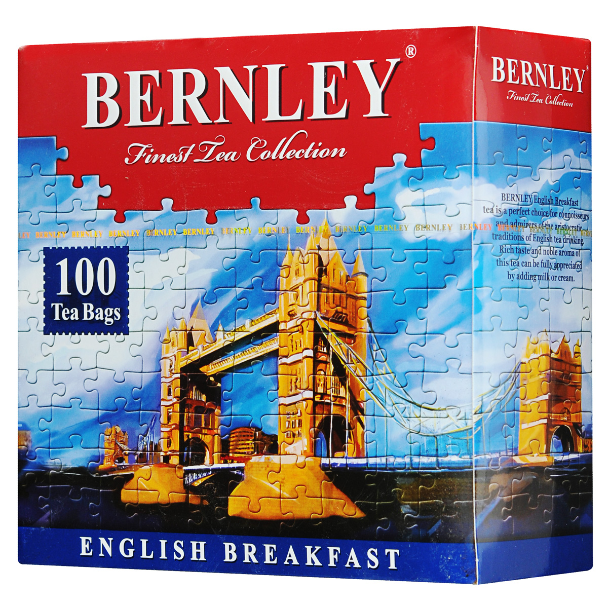Bernley English Breakfast черный чай в пакетиках, 100 шт0120710Bernley English Breakfast - высокогорный черный чай для традиционного английского чаепития. Крепкий чай темно-красного цвета с богатым, насыщенным, невероятно свежим и мощным вкусом, характерным неповторимым ароматом и тонкими фруктовыми нотками в длительном и сочном послевкусии.