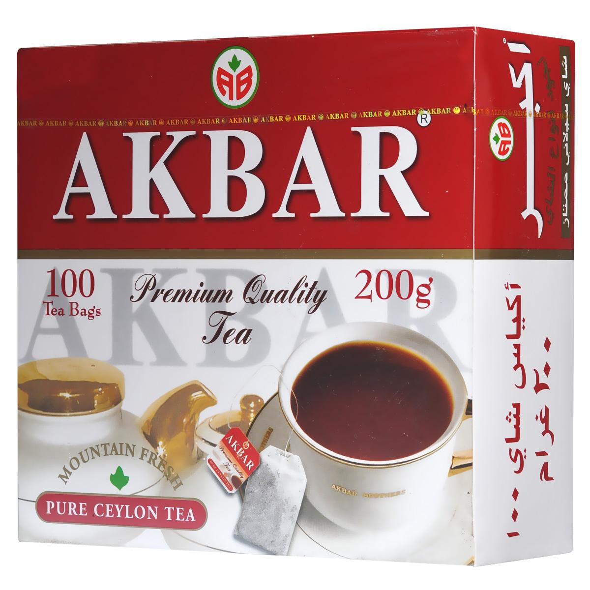 Akbar Mountain Fresh черный чай в пакетиках, 100 шт0120710Благоприятный климат и впитавший горную свежесть и дыхание моря кристально чистый воздух плантаций легендарных цейлонских чайных провинциях Kandy и Dimbula дают нежным чайным листочкам дивную силу, добавляя каждому, кто пьет чай Akbar Mountain Fresh, нескончаемую энергию и бодрость.Продукция Arbar подвергается обязательному многоступенчатому контролю и испытаниям опытными технологами и дегустаторами на всем пути, который чай этой торговой марки проходит от плантации до конечного потребителя.