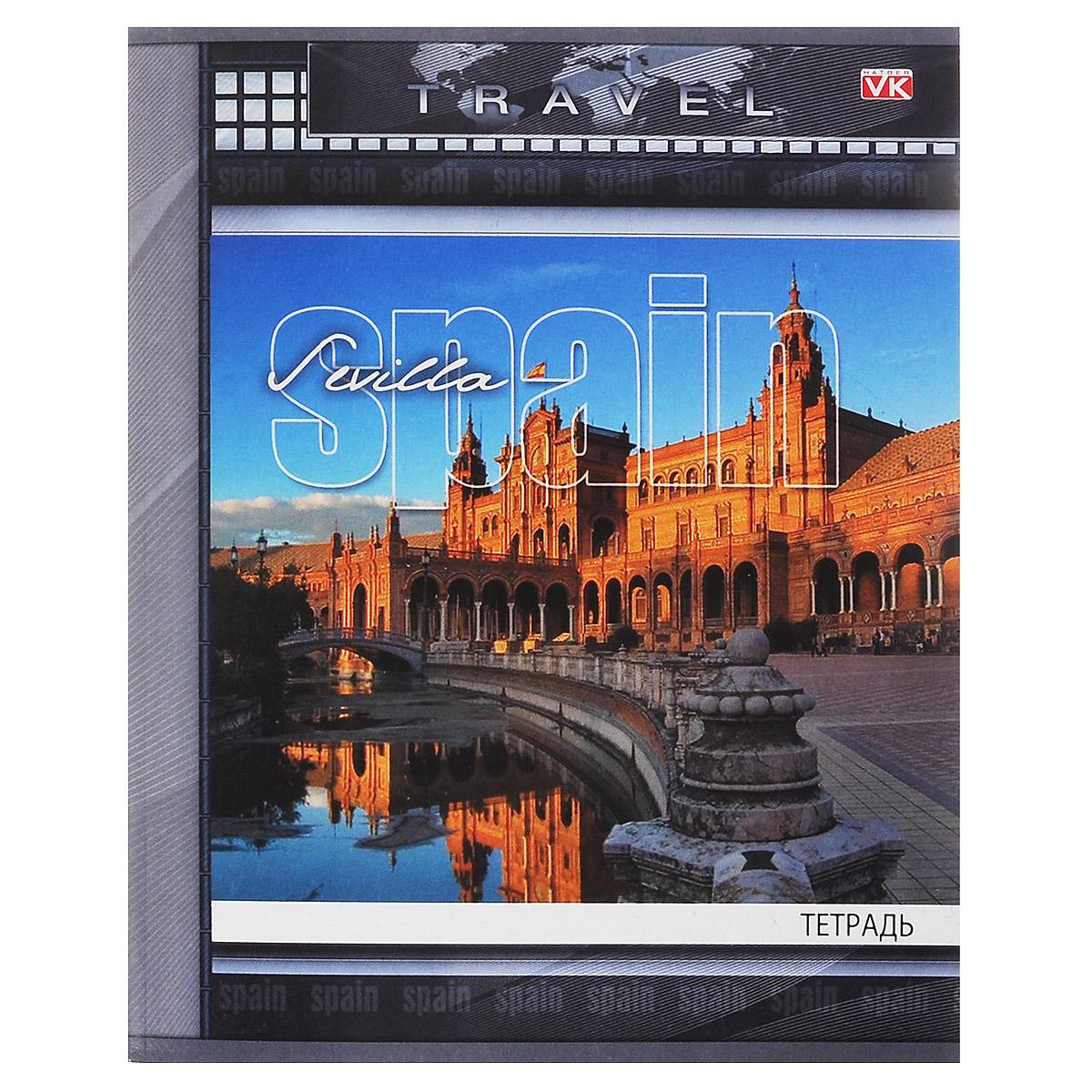 Тетрадь Hatber Travel. Spain, 96 листов72523WDРабочая тетрадь Travel. Spain в клетку содержит 96 листов, на каждом их которых есть клеточка на скобе. Отлично подойдет для занятий не только школьнику, но и студенту. Тетрадь удобна как для учебы, так и для работы.