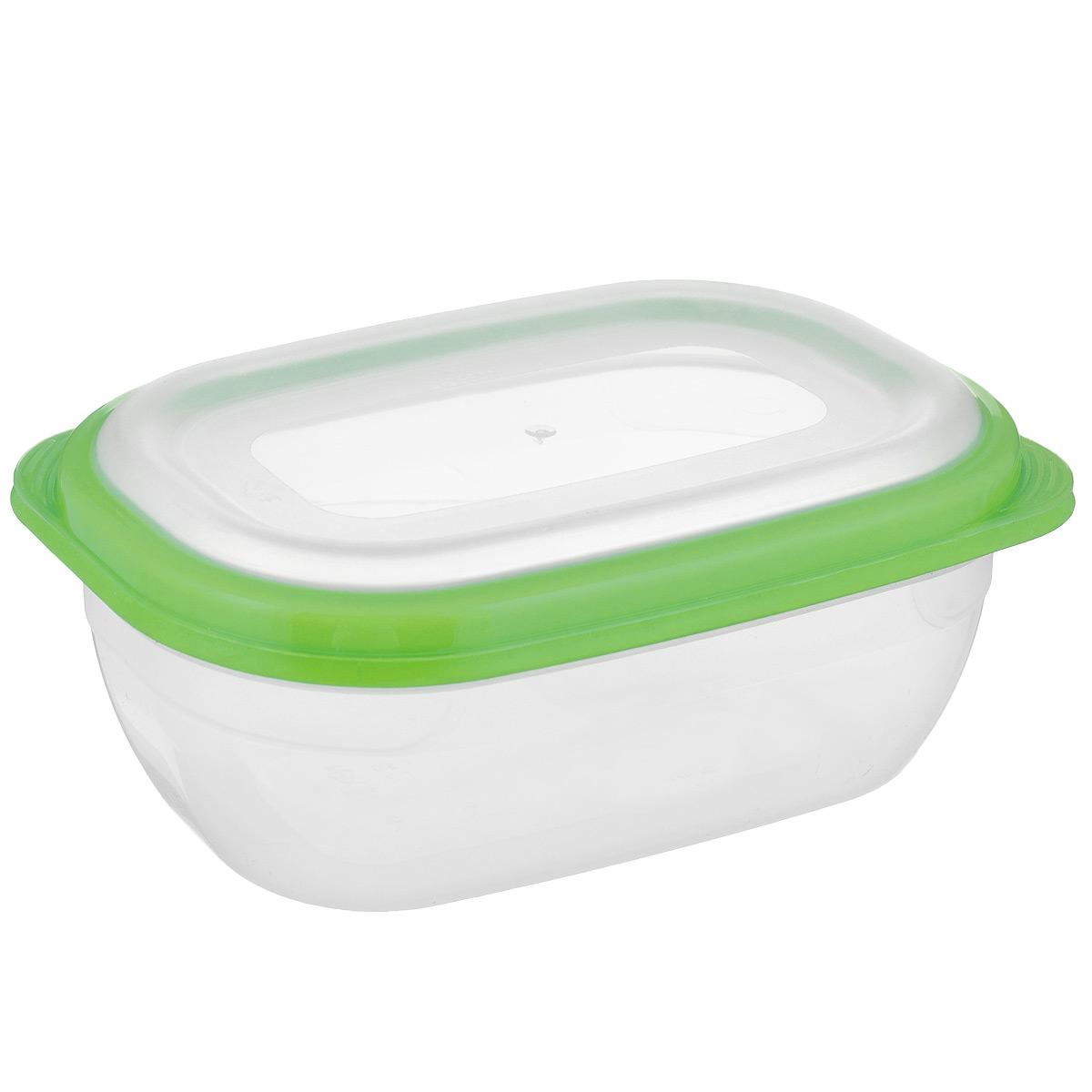 Контейнер для СВЧ Полимербыт Премиум, цвет: салатовый, прозрачный, 0,5 лС560 салатовыйПрямоугольный контейнер для СВЧ Полимербыт Премиум изготовлен из высококачественного прочного пластика, устойчивого к высоким температурам (до +110°С). Крышка плотно и герметично закрывается, дольше сохраняя продукты свежими и вкусными. Контейнер идеально подходит для хранения пищи, его удобно брать с собой на работу, учебу, пикник или просто использовать для хранения пищи в холодильнике.Подходит для разогрева пищи в микроволновой печи и для заморозки в морозильной камере (при минимальной температуре -40°С). Можно мыть в посудомоечной машине.