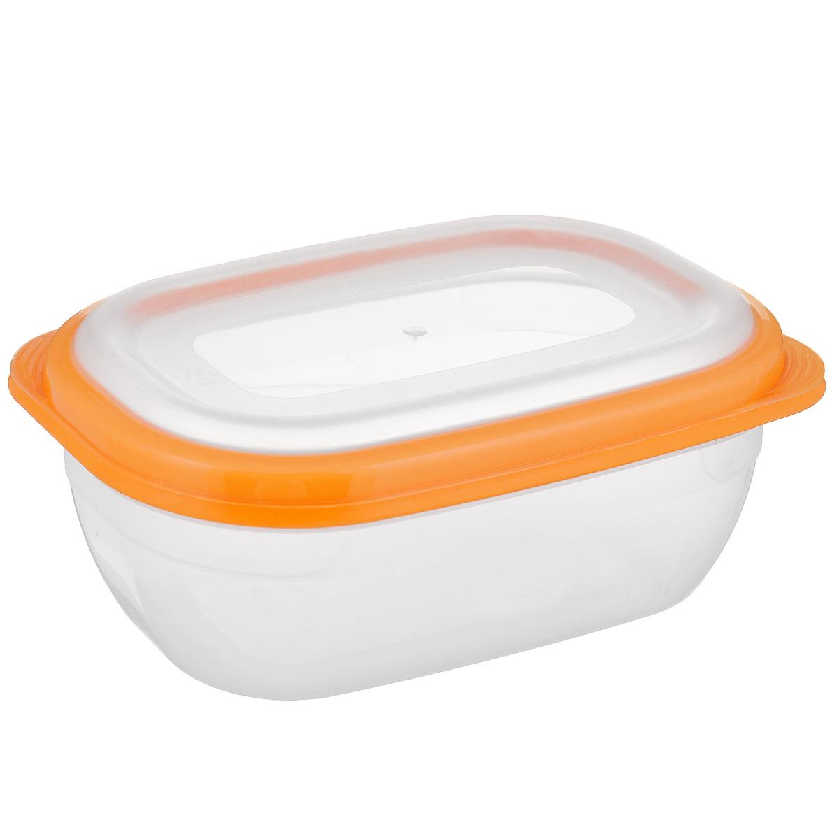 Контейнер для СВЧ Полимербыт Премиум, цвет: оранжевый, прозрачный, 0,5 л54 009303Прямоугольный контейнер для СВЧ Полимербыт Премиум изготовлен из высококачественного прочного пластика, устойчивого к высоким температурам (до +110°С). Крышка плотно и герметично закрывается, дольше сохраняя продукты свежими и вкусными. Контейнер идеально подходит для хранения пищи, его удобно брать с собой на работу, учебу, пикник или просто использовать для хранения пищи в холодильнике.Подходит для разогрева пищи в микроволновой печи и для заморозки в морозильной камере (при минимальной температуре -40°С). Можно мыть в посудомоечной машине.