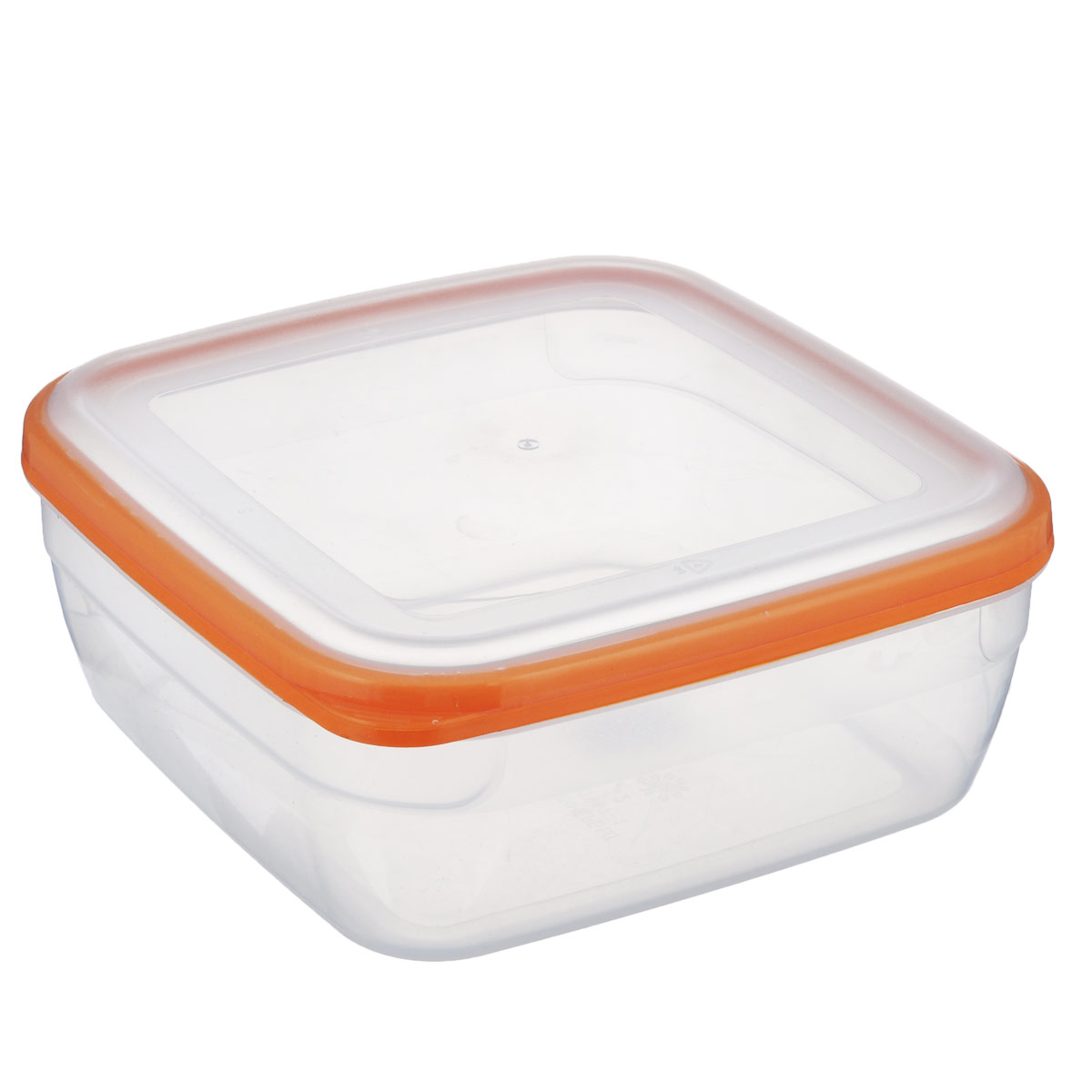 Контейнер Полимербыт Премиум, цвет: прозрачный, оранжевый, 2,2 лVT-1520(SR)Контейнер Полимербыт Премиум квадратной формы, изготовленный из прочного пластика, предназначен специально для хранения пищевых продуктов. Крышка легко открывается и плотно закрывается.Контейнер устойчив к воздействию масел и жиров, легко моется. Прозрачные стенки позволяют видеть содержимое. Контейнер имеет возможность хранения продуктов глубокой заморозки, обладает высокой прочностью. Можно мыть в посудомоечной машине. Подходит для использования в микроволновых печах.