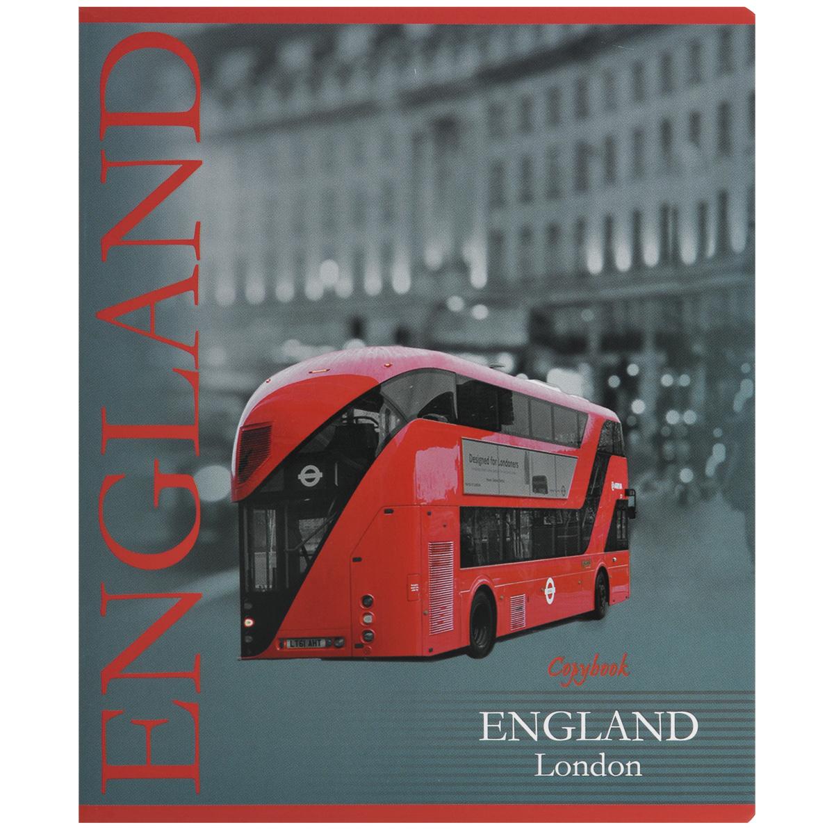 Тетрадь Лондон. Автобус, 60 листов, формат А572523WDТетрадь в клетку Лондон. Автобус подойдет как студенту, так и школьнику. Обложка тетради с закругленными углами выполнена из плотной бумаги. На обложке изображение Лондона. Внутренний блок состоит из 60 листов белой бумаги. Стандартная линовка в клетку дополнена полями, совпадающими с лицевой и оборотной стороны листа.
