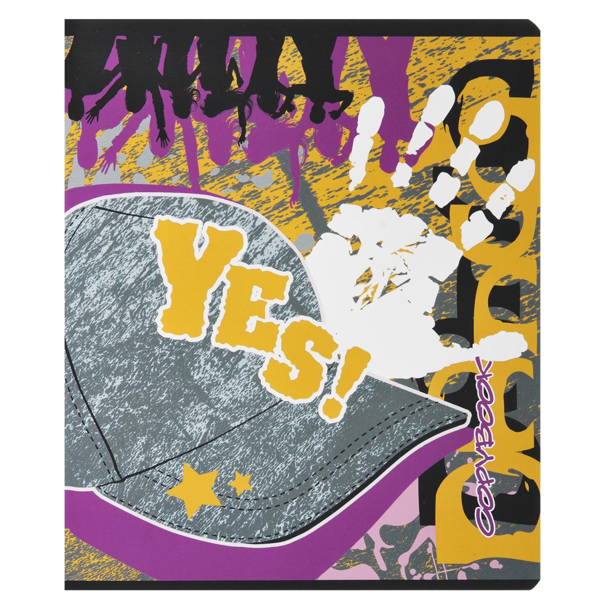 Тетрадь Yes. Бейсболки, 48 листов, формат А5, рисунок 472523WDТетрадь в клетку Yes. Бейсболки с красочным изображением на обложке подойдет как студенту, так и школьнику. Обложка тетради с закругленными углами выполнена из плотной бумаги.Внутренний блок состоит из 48 листов белой бумаги. Стандартная линовка в клетку дополнена полями, совпадающими с лицевой и оборотной стороны листа.