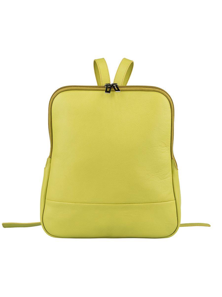 Рюкзак женский Fabula, цвет: салатовый. S.141.FP3-47660-00504Стильный женский рюкзак Fabula из коллекции Every day выполнен из натуральной кожи и оформлен фактурным тиснением. Закрывается на молнию. Изделие содержит одно основное отделение, закрывающееся на застежку-молнию. Внутри - врезной карман на молнии, два накладных кармашка для мобильного телефона и мелочей. На внешней оборотной стороне два регулируемых за счет пряжек плечевых ремня.Рюкзак упакован в фирменный пакет.Оригинальный рюкзак станет незаменимым спутником в маленьком путешествии, поможет вам подчеркнуть свою индивидуальность и сделает ваш образ изысканным и завершенным.