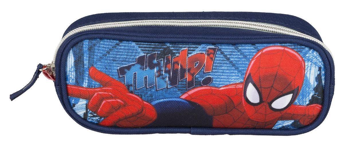 Пенал объемной формы, на молнии. Spider-man Classic72523WDШкольный пенал для канцелярских принадлежностей вместит в себя все самое необходимое для учебы. Пенал очень яркий и красочный. Изображения любимых героев мультфильмов поднимут настроение ученику, что тоже немаловажно.Пенал имеет надежный замок-молнию.