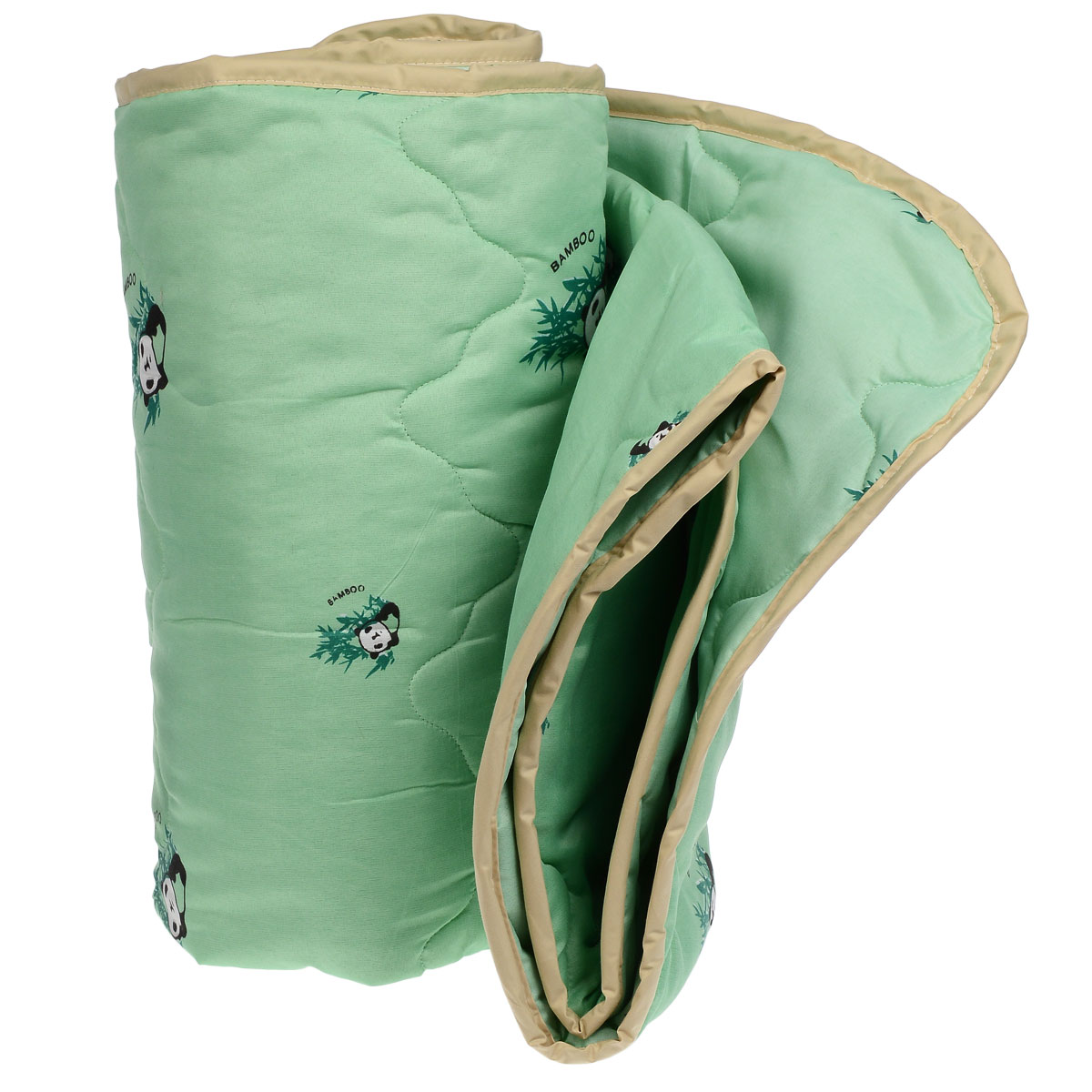Одеяло всесезонное OL-Tex Бамбук, наполнитель: волокно бамбука, цвет: зеленый, 172 х 205 смV30 AC DCВеликолепное всесезонное одеяло OL-Tex Бамбук подарит вам ни с чем несравнимую мягкость и согреет в холодное время года. При этом одеяло невероятно легкое: под ним также не будет жарко летом. Одеяло из коллекции Бамбук создано с использованием натурального и экологически чистого бамбукового волокна. Чехол одеяла зеленого цвета выполнен из 100% полиэстера и оформлен принтом с изображением бамбука и панды. Эксклюзивная стежка и атласный кант по краю придают изделию красивый внешний вид. Натуральная, экологически чистая основа бамбукового волокна обладает природными антибактериальными и дезодорирующими свойствами, останавливает рост и развитие бактерий, препятствует появлению неприятных запахов. Эти качества сохраняются даже после многократных стирок. Идеально подходит людям, страдающим аллергией и астмой. Основные свойства бамбукового наполнителя: - отличная воздухопроницаемость и впитывающие свойства, - дезодорирующие и бактерицидные свойства, - гигиеничность и гипоаллергенность. Подарите себе здоровый сон с бамбуковым одеялом! Рекомендации по уходу:- Ручная и машинная стирка при температуре 30°С.- Не гладить.- Не отбеливать. - Нельзя отжимать и сушить в стиральной машине. - Вертикальная сушка. Материал чехла: 100: полиэстер. Наполнитель: волокно бамбука. Размер: 172 см х 205 см.