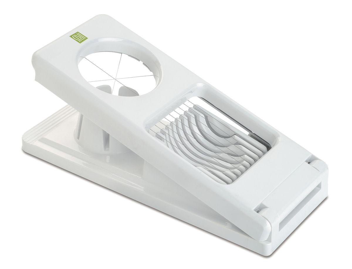 Яйцерезка 2 в 1 Iris BarcelonaAW-2100Яйцерезка 2 в 1 Iris Barcelona - очень нужная вещь на кухне для любой хозяйки. Она режет 3 способами: ломтиками, кружками (овалами) или на 6 частей. Режущие части сделаны из долговечной нержавеющей стали, корпус - из специального пластика. Ее отличительными характеристиками являются стильный и элегантный внешний вид, простота и удобство пользования.Размер: 21x 8 x 2 см.
