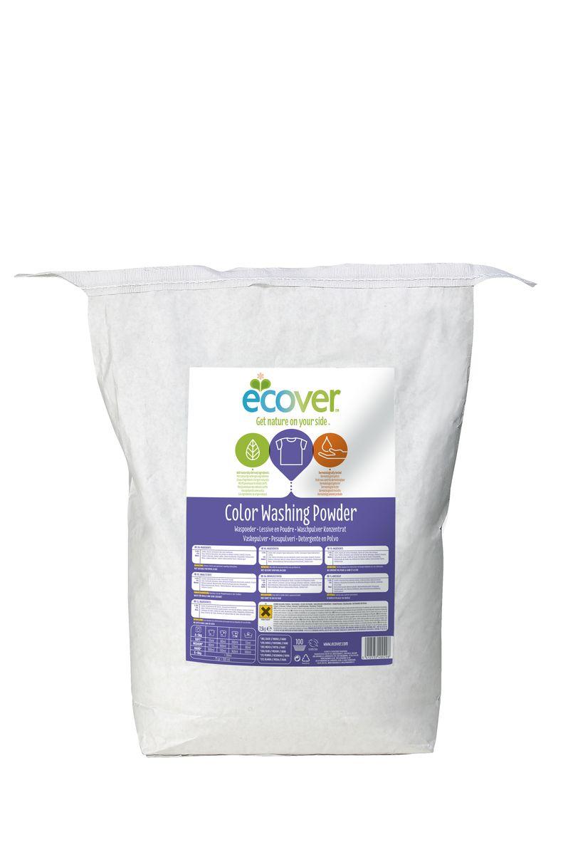 Экологический стиральный порошок Ecover, концентрат, для цветного белья, 7,5 кг1550Очень эффективный стиральный порошок-концентрат Ecover предназначен для стирки цветного белья. Подходит к использованию для детей от 2-х лет и взрослых. Порошок создан на основе растительных ПАВ. Улучшенная формула содержит небольшое количество бережного кислородного отбеливателя для удаления таких загрязнений как пятна от вина, фруктов, травы и т.д. Прекрасно выполаскивается. Новая формула средства позволяет использовать меньше порошка и обеспечивает на 25% больше стирок! При машинной стирке не требуется добавление средств для смягчения воды и предотвращения образования накипи (типа Calgon). Обладает легким натуральным ароматом. Не содержит фосфатов и синтетических ароматизаторов. Содержит энзимы (не ГМО) и натуральный кислородный отбеливатель.Подходит для использования в домах с автономной канализацией. Не наносит вреда любым видам септиков! Характеристики:Состав: 15-30% анионные био-ПАВ цеолиты, 5-15% неионные ПАВ, силикат натрия, карбонат натрия, бикарбонат натрия, полипептидное мыло, карбоксиметил целлюлозы, отдушка, сульфат натрия, цитрат натрия, энзимы, этилендиамин диссуцинат. Объем: 7,5 кг. Товар сертифицирован.