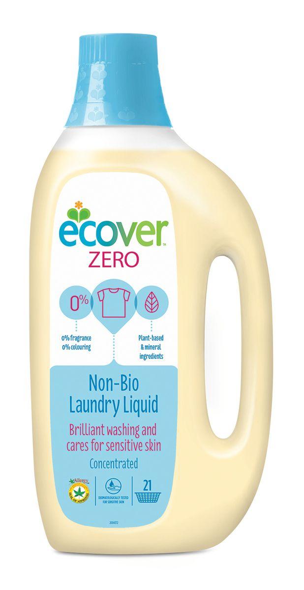 Ecover Экологическая жидкость для стирки Zero, 1,5 л709284Идеальное универсальное гипоаллергенное средство Ecover Zero для бережной стирки любого белого и цветного белья. Особенно хорошо подходит для аллергиков, людей с чувствительной кожей, младенцев и детей. Не содержит отдушек и красителей, без запаха. Колпачок можно использовать в качестве мерной емкости.Не содержит фосфатов, отбеливателей, энзимов, ароматизаторов, красителей.Подходит для использования в домах с автономной канализацией. Не наносит вреда любым видам септиков!Хватает на 21 стирку.Для стирки изделий из шерсти, шелка и других тонких тканей рекомендуется использовать специальную жидкость Ecover.