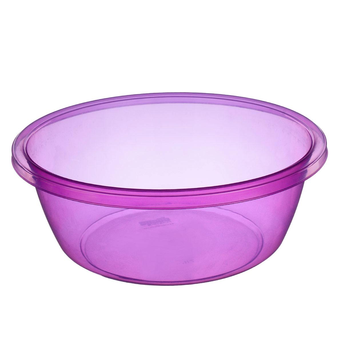 Таз Dunya Plastik, цвет: фиолетовый, 7 л. 1033576Таз Dunya Plastik выполнен из прочного прозрачного пластика. Он предназначен для стирки и хранения разных вещей. По краю имеются углубления, которые обеспечивают удобный захват. Такой таз пригодится в любом хозяйстве.