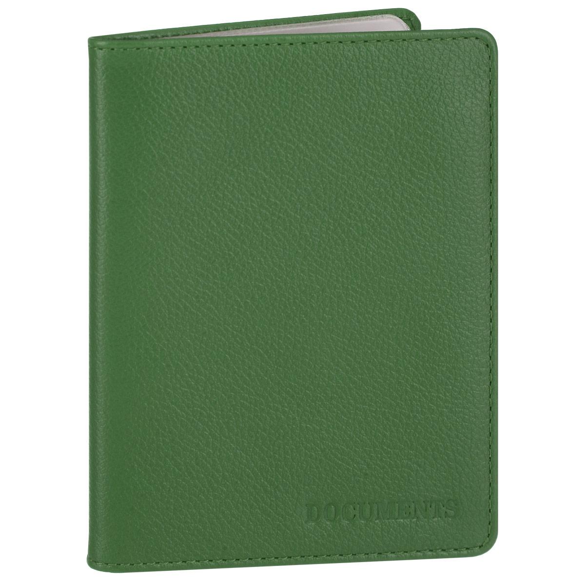 Обложка для автодокументов женская Fabula Every day, цвет: зеленый. BV.53.FP191Стильная обложка для автодокументов Fabula Every day выполнена из натуральной кожи с зернистой текстурой, оформлена тисненой надписью Documents. Обложка для автодокументов раскладывается пополам, внутри расположен пластиковый блок, состоящий из шести карманов и двух накладных кармашков.Такая обложка для автодокументов станет прекрасным и стильным подарком человеку, любящему оригинальные и практичные вещи.
