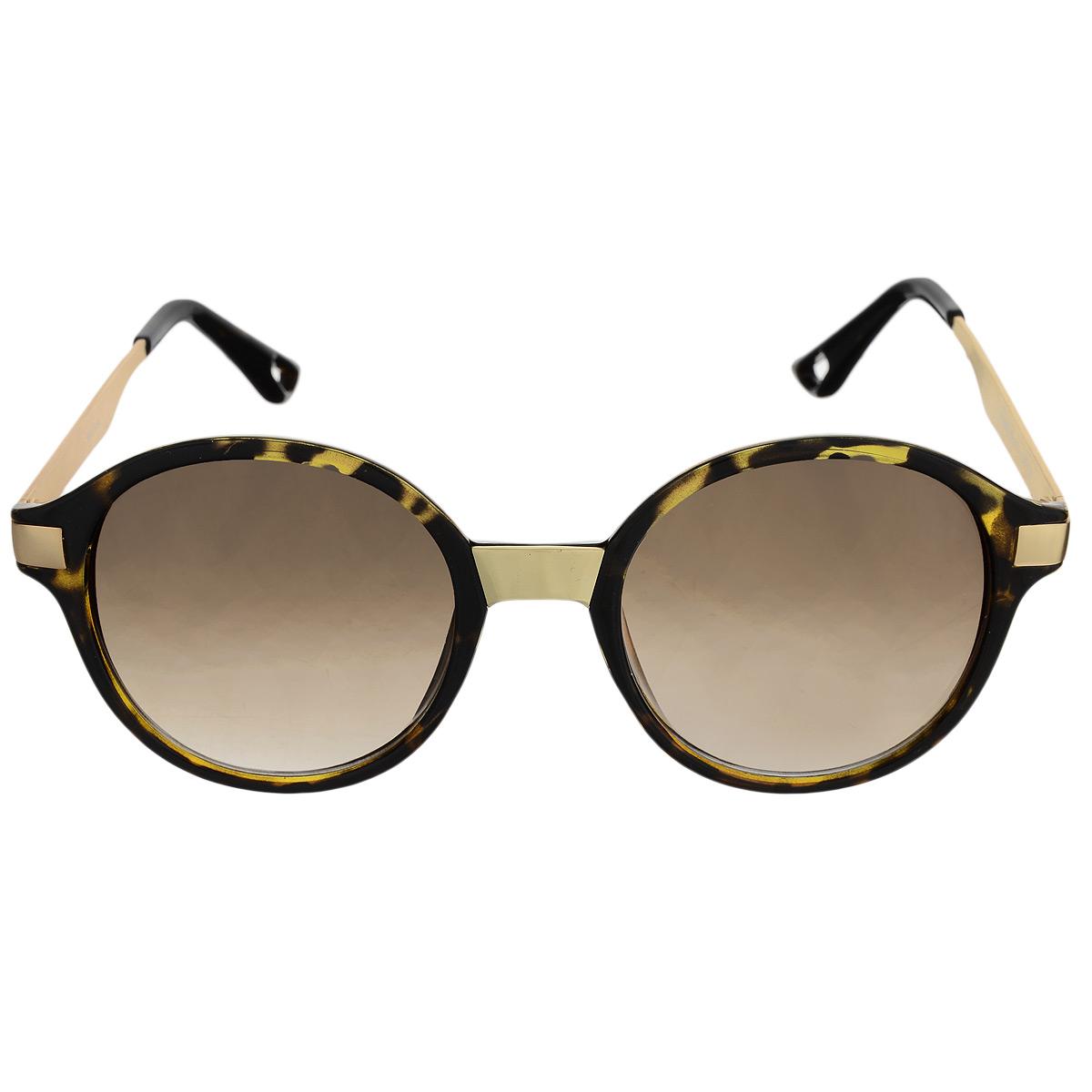 Солнцезащитные очки женские Selena, цвет: коричневый, золотой. 80031001BM8434-58AEСолнцезащитные женские очки Selena, выполненные с линзами из высококачественного пластика PC с зеркальным эффектом fresh mirror, оправа оформлена принтом леопард.Используемый пластик не искажает изображение, не подвержен нагреванию и вредному воздействию солнечных лучей. Линзы данных очков с высокоэффективным UV-фильтром обеспечивают полную защиту от ультрафиолетовых лучей. Металлическая оправа очков легкая, прилегающей формы и поэтому не создает никакого дискомфорта.Такие очки защитят глаза от ультрафиолетовых лучей, подчеркнут вашу индивидуальность и сделают ваш образ завершенным.