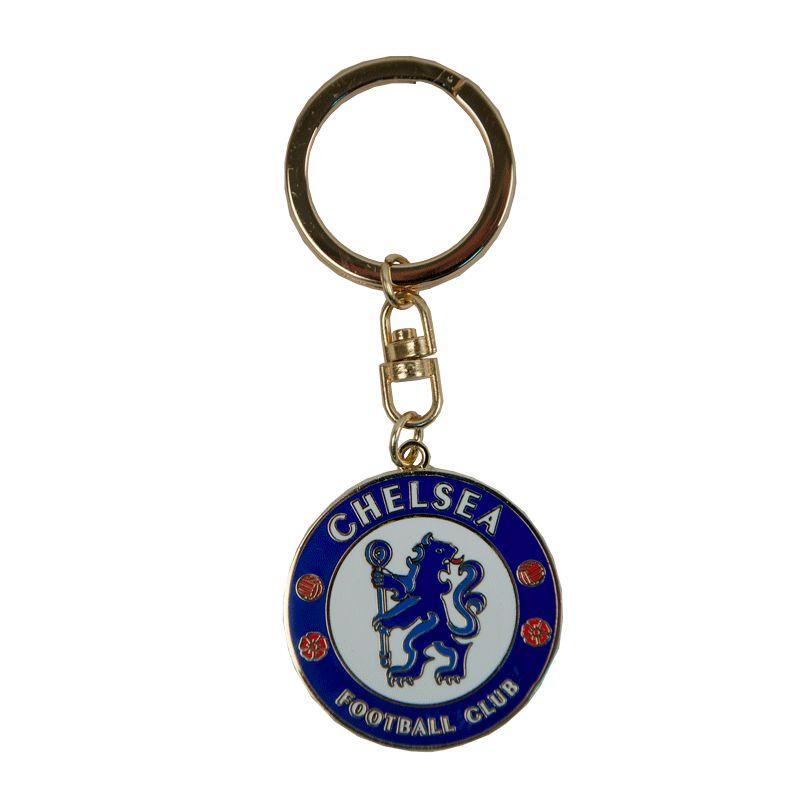 Брелок Chelsea, цвет: синий, белый, красный, диаметр 4 см. 08250J30J304671Брелок Chelsea изготовлен из металла. Оснащен кольцом для подвешивания. Брелок Chelsea порадует истинного болельщика футбольного клуба, а также станет приятным подарком к любому празднику.Общий размер брелка: 4 см х 10 см х 0,5 см.
