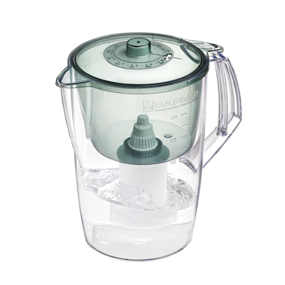 Фильтр-кувшин для воды Барьер Норма, цвет: малахитВетерок 2ГФФильтр Norma - одна из самых популярных моделей фильтров-кувшинов. Кувшин обеспечит Вам нужное количествочистой воды за раз и при этом не будет занимать много места на кухне. Фильтр Norma - это признанное российскими потребителями сочетание доступности с большим количеством отфильтрованной воды. Фильтр-кувшин предназначен для доочистки питьевой водопроводной воды. Эффективно очищает воду от активного хлора, органических и хлороорганических соединений, токсичных металлов и других вредных веществ. Устраняет неприятные запахи и привкусы. Фильтр укомплектован сменной фильтрующей кассетой БАРЬЕР-4. В состав кассеты входят особая комбинация высококачественных активированных углей для сорбции вредных примесей и специальные ионообменные материалы для удаления из воды ионов токсичных металлов. Особенности данного фильтра:высококачественный пластик, допущенный для контакта с питьевой водой;возможность мыть в посудомоечной машине;уникальная конструкция воронки для защиты от попадания неочищенной воды и пыли;уникальная технология NanoPlus®. Барьер - это высококачественные материалы и жесточайший контроль на каждой стадии производства. На сегодняшний день компания Барьер располагает производством полного цикла и собственной научно-исследовательской лабораторией. Конструкторский отдел компании сотрудничает с ведущими дизайн-бюро Европы, что позволяет обновлять модельный ряд фильтров-кувшинов раз в 2-3 года.Материал: пластик. Объем кувшина: 3,6 л.Объем воронки: 1,5 л.Объем очищенной воды: 1,6 л.Примерный ресурс сменной кассеты (в зависимости от качества исходной воды): 350 л.Размер кувшина (с учетом ручки): 24 см х 17 см. Высота кувшина: 25 см. Размер упаковки: 22,8 см х 16,8 см х 26,8 см. Входит инструкция по эксплуатации на русском языке.