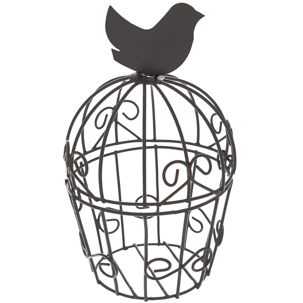 Клетка декоративная ScrapBerrys Птичка, цвет: темно-коричневый, 7 см х 7 см х 12 смSCB271011Декоративная клетка ScrapBerrys Птичка выполнена из высококачественного металла. Изделие украшено изящными коваными узорами. Клетка оснащена крышкой, которая закрывается на специальный замок.Такая клетка подойдет для декора интерьера дома или офиса. Кроме того - это отличный вариант подарка для ваших близких и друзей.
