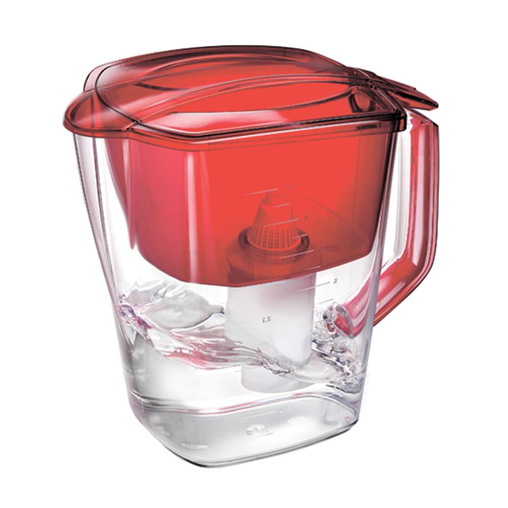 Фильтр-кувшин для воды Барьер Гранд, цвет: гранатовый810002Фильтр Grand - одна из самых популярных моделей фильтров-кувшинов, оптимальное решение для большой семьи. Кувшин обеспечит Вам нужное количество чистой воды за раз и при этом не будет занимать много места на кухне. Фильтр Grand - это признанное российскими потребителями сочетание доступности с большим количеством отфильтрованной воды.Фильтр-кувшин предназначен для очистки питьевой водопроводной воды. Эффективно очищает воду от активного хлора, органических и хлороорганических соединений, токсичных металлов и других вредных веществ. Устраняет неприятные запахи и привкусы. В январе 2007 года Барьер-Гранд получил сертификат соответствия Российского института потребительских испытаний (РИПИ). Фильтр укомплектован сменной фильтрующей кассетой БАРЬЕР-4. В состав кассеты входят особая комбинация высококачественных активированных углей для сорбции вредных примесей и специальные ионообменные материалы для удаления из воды ионов токсичных металлов. Особенности данного фильтра:высококачественный пластик, допущенный для контакта с питьевой водой;возможность мыть в посудомоечной машине;уникальная конструкция воронки для защиты от попадания неочищенной воды и пыли;измерительная шкала на корпусе;уникальная технология NanoPlus®.К фильтру-кувшину Grand подходят 4 вида сменных кассет для воды с разными типами загрязнения: Б-4 для водопроводной воды.Б-5 с фторирующим эффектом. Б-6 для жесткой воды. Б-7 для защиты от железа. Барьер - это высококачественные материалы и жесточайший контроль на каждой стадии производства. На сегодняшний день компания Барьер располагает производством полного цикла и собственной научно-исследовательской лабораторией. Конструкторский отдел компании сотрудничает с ведущими дизайн-бюро Европы, что позволяет обновлять модельный ряд фильтров-кувшинов раз в 2-3 года.Материал: пластик.Объем воронки: 1,6 л.Объем очищенной воды: 1,8 л.Объем кувшина: 4 л. Размер кувшина (с учетом ручки): 27,5 см х 14 см х 25 