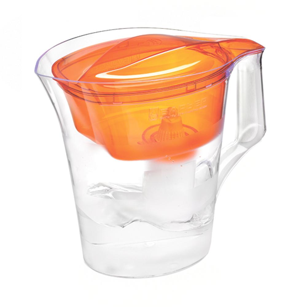 Фильтр-кувшин для воды Барьер Твист, цвет: оранжевый21395598Фильтр-кувшин Барьер Твист предназначен для доочистки питьевой водопроводной воды. Эффективно очищает воду от активного хлора, органических и хлороорганических соединений, токсичных металлов и других вредных веществ. Устраняет неприятные запахи и привкусы. Фильтр Твист представляет собой обновленный эксклюзивный дизайн от лидера известной студии Артемия Лебедева. Кувшин декорирован матовыми горизонтальными полосами, которые подчеркивают форму кувшина. Имеет удобная цельнолитая ручка, специальные пазы для надежного крепления воронки и крышки, широкий выступ на крышке кувшина, за который её удобно снимать и надевать. Особенности данного фильтра:Кувшин изготовлен из высококачественного пластика, допущенного для контакта с питьевой водой;В стандартной комплектации поставляется в продажу со сменной кассетой БАРЬЕР Стандарт;Температура очищаемой воды не выше 40°С;Срок службы изделия не более 5 лет;Соответствует стандарту NSF/ANSI 42 и 53.К фильтру-кувшину Барьер-твист подходят 4 вида сменных кассет для воды с разными типами загрязнения: Б-4 для водопроводной воды.Б-5 с фторирующим эффектом. Б-6 для жесткой воды. Б-7 для защиты от железа.Барьер - это высококачественные материалы и жесточайший контроль на каждой стадии производства. На сегодняшний день компания Барьер располагает производством полного цикла и собственной научно-исследовательской лабораторией. Конструкторский отдел компании сотрудничает с ведущими дизайн-бюро Европы, что позволяет обновлять модельный ряд фильтров-кувшинов раз в 2-3 года.Общий объем кувшина: 4 л. Объем воронки: 1,4 л. Объем очищенной воды: 1,6 л.Средний ресурс сменной кассеты (в зависимости от качества исходной воды): 350 л. Материал: пластик.